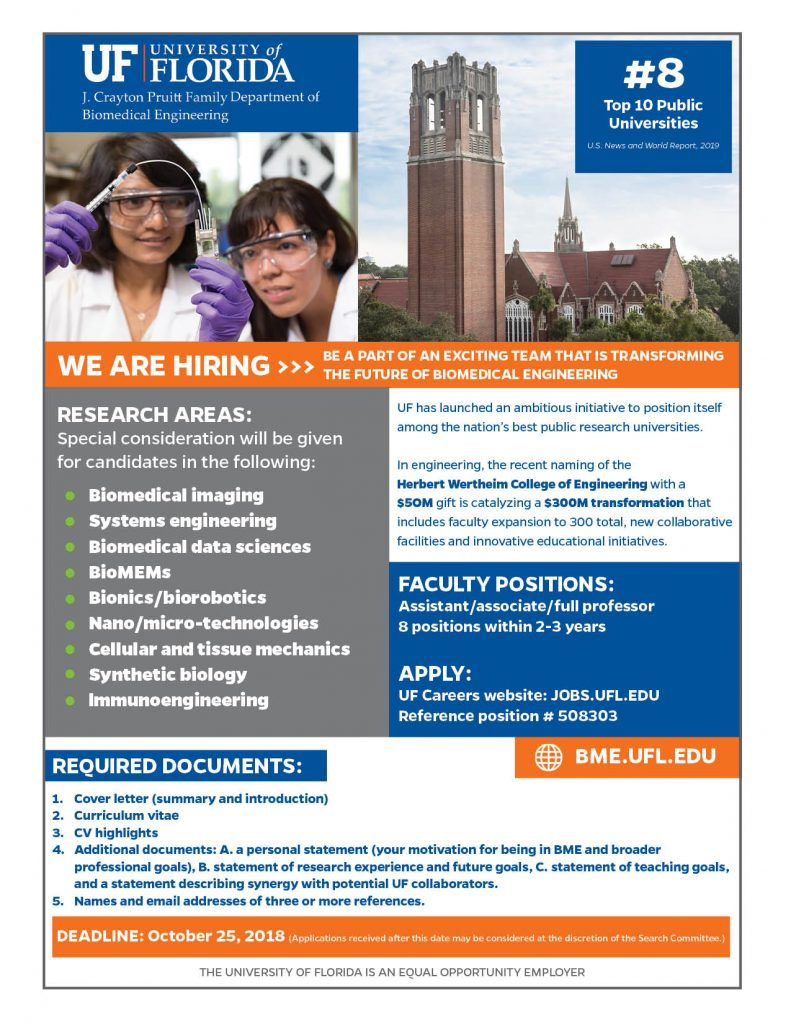 UF BME Faculty Recruitment