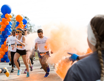 Orange and Blue Run